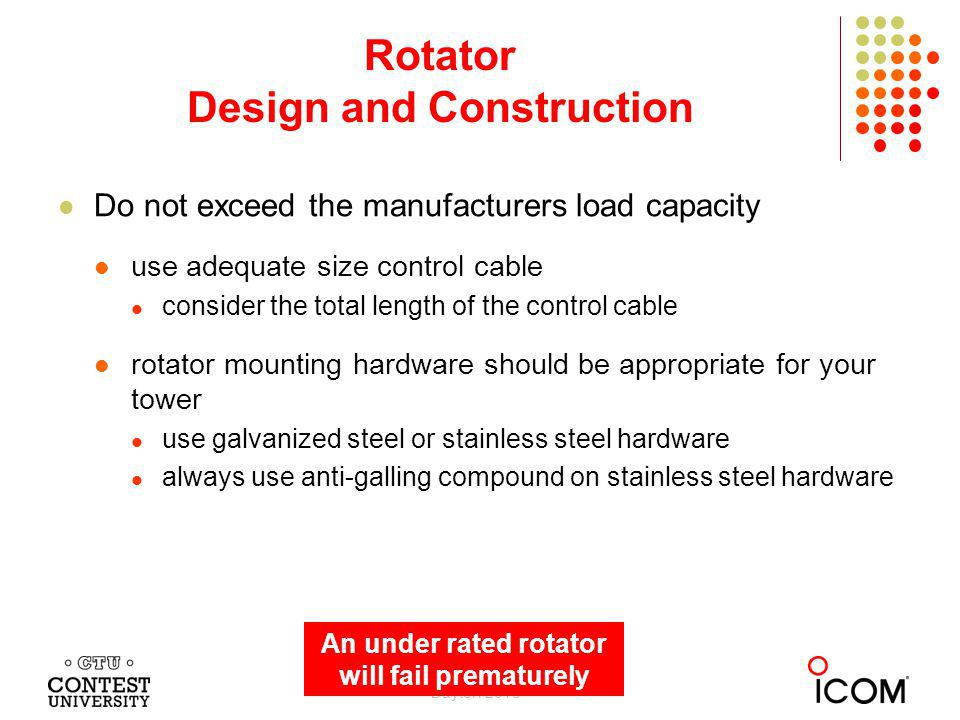 Rotator Design and Construction