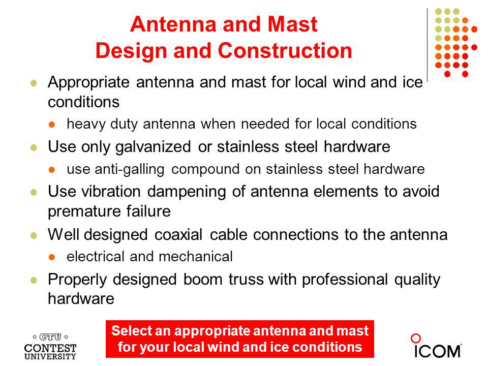 Antenna and Mast Design and Construction