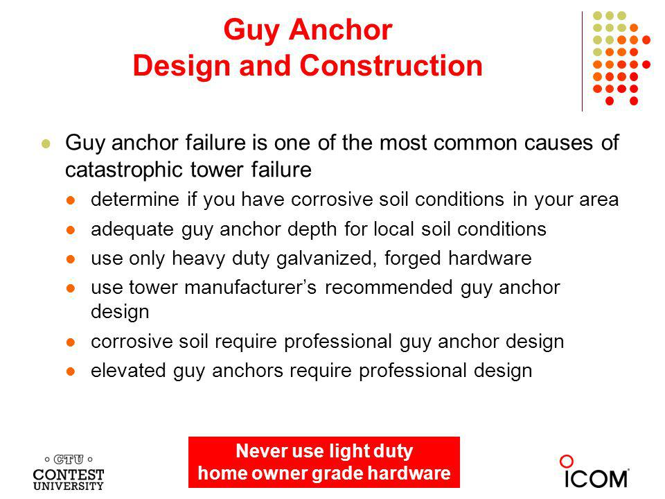 Guy Anchor Design and Construction