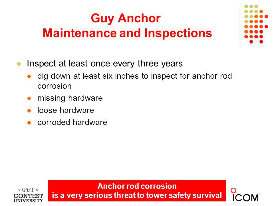 Guy Anchor Maintenance and Inspections