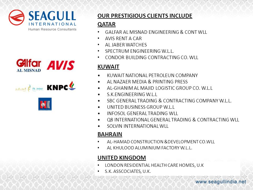 OUR PRESTIGIOUS CLIENTS INCLUDE QATAR