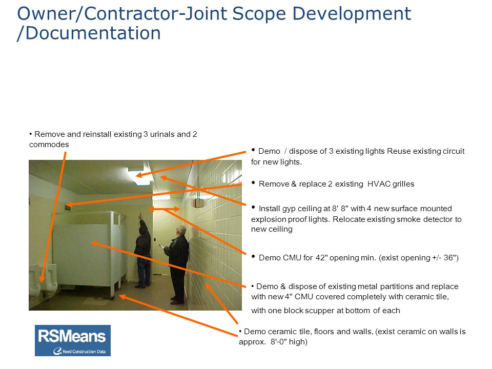 Owner/Contractor-Joint Scope Development /Documentation