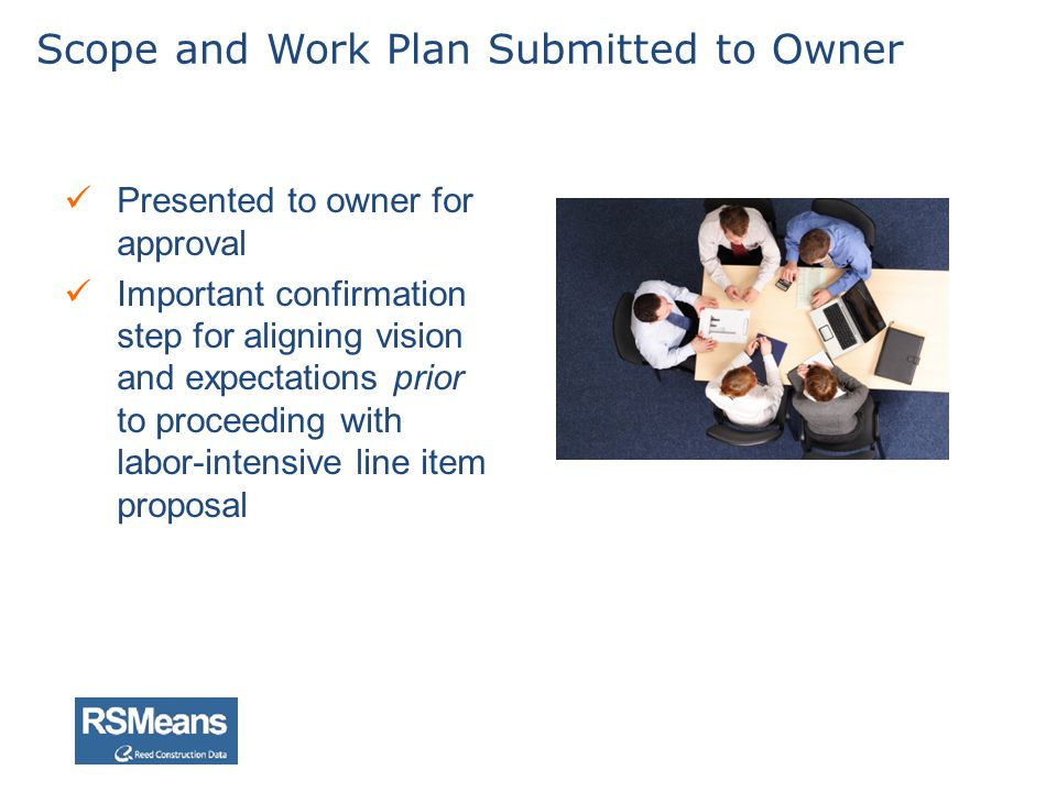 Scope and Work Plan Submitted to Owner