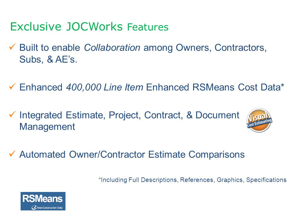 Exclusive JOCWorks Features