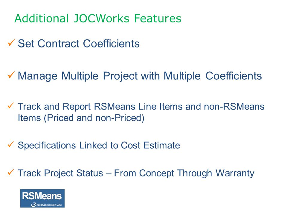Additional JOCWorks Features