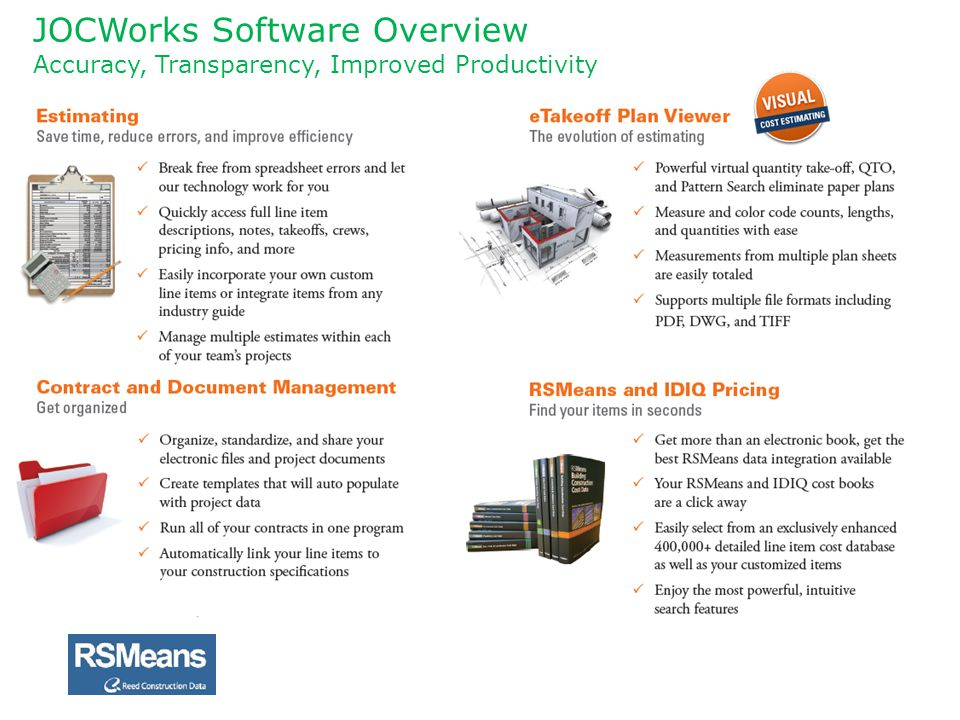 JOCWorks Software Overview Accuracy, Transparency, Improved Productivity
