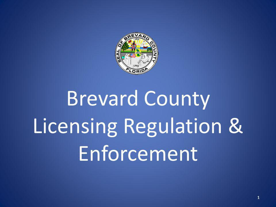 Brevard County Licensing Regulation & Enforcement