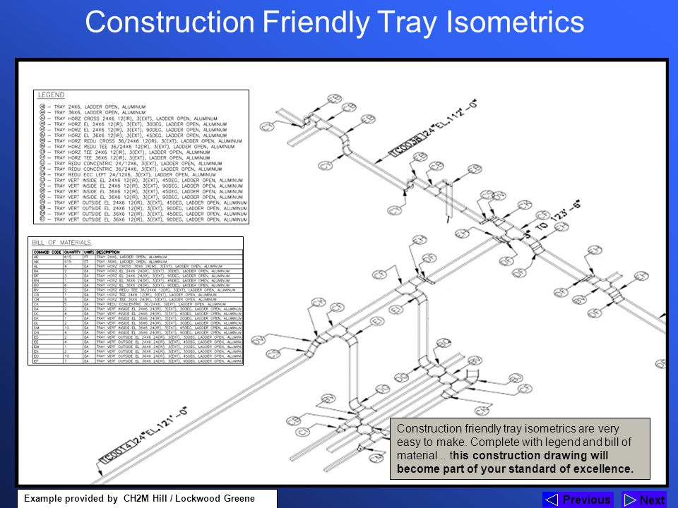 Construction Friendly Tray Isometrics