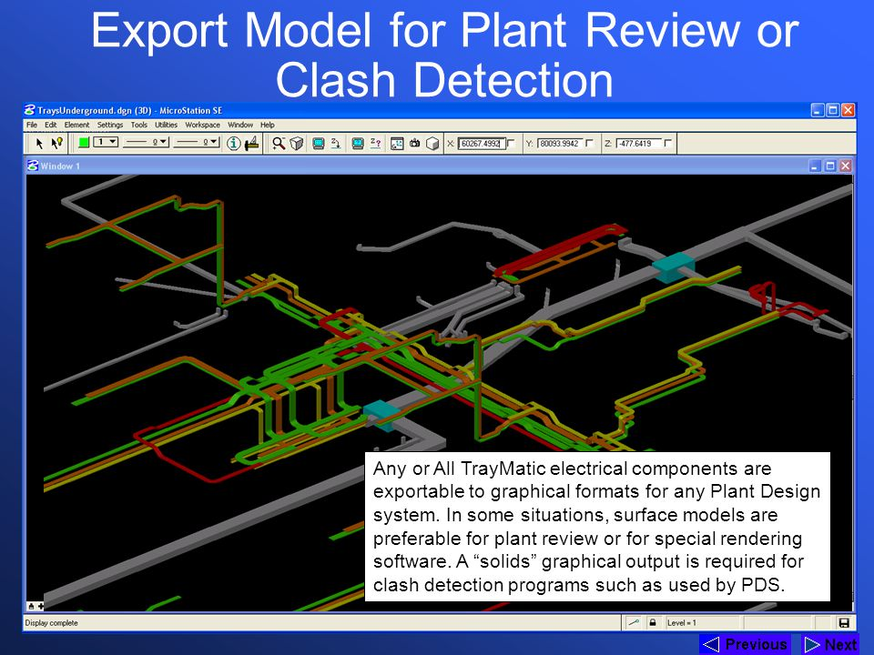 Export Model for Plant Review or Clash Detection