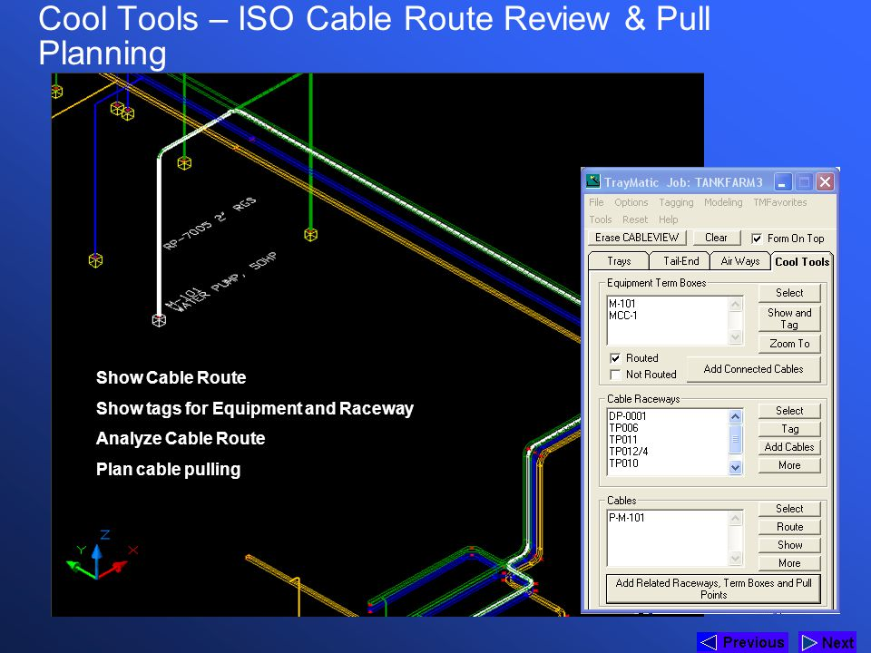Cool Tools – ISO Cable Route Review & Pull Planning