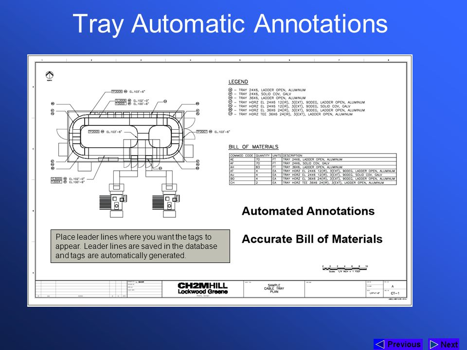 Tray Automatic Annotations