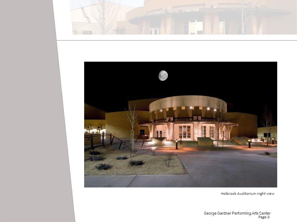 Holbrook Auditorium night view