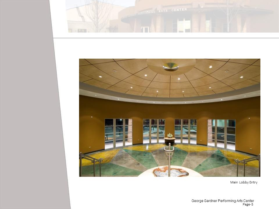 Main Lobby Entry George Gardner Performing Arts Center Page-5