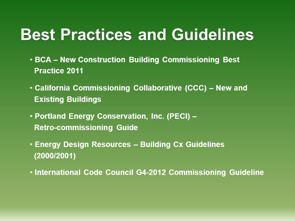 Best Practices and Guidelines