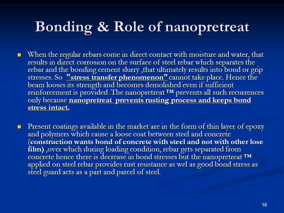 Bonding & Role of nanopretreat
