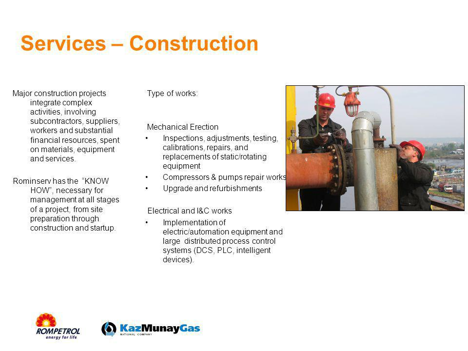 Services – Construction