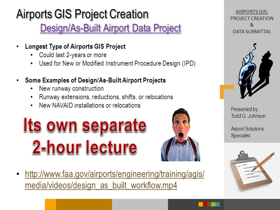 Airports gis: project creation & data submittal