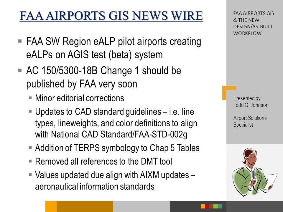 FAA airports GIS & the new Design/As-Built Workflow