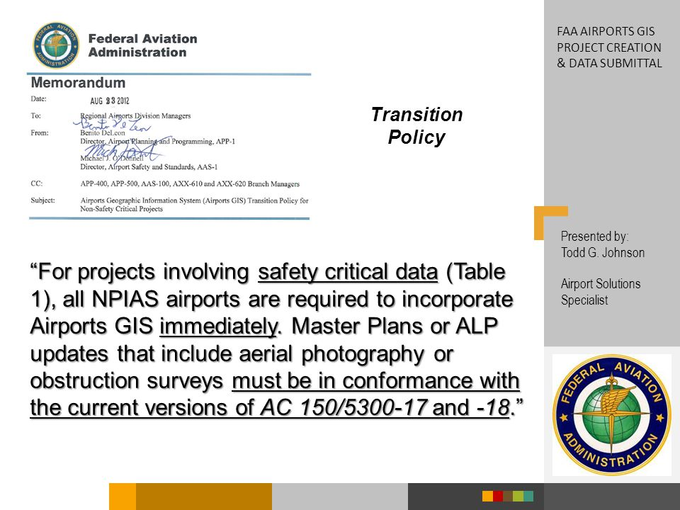 FAA airports GIS Project creation & data submittal