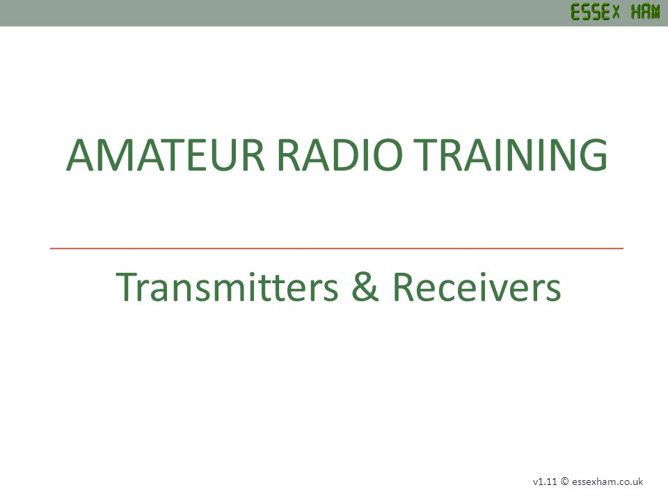 AMATEUR RADIO TRAINING