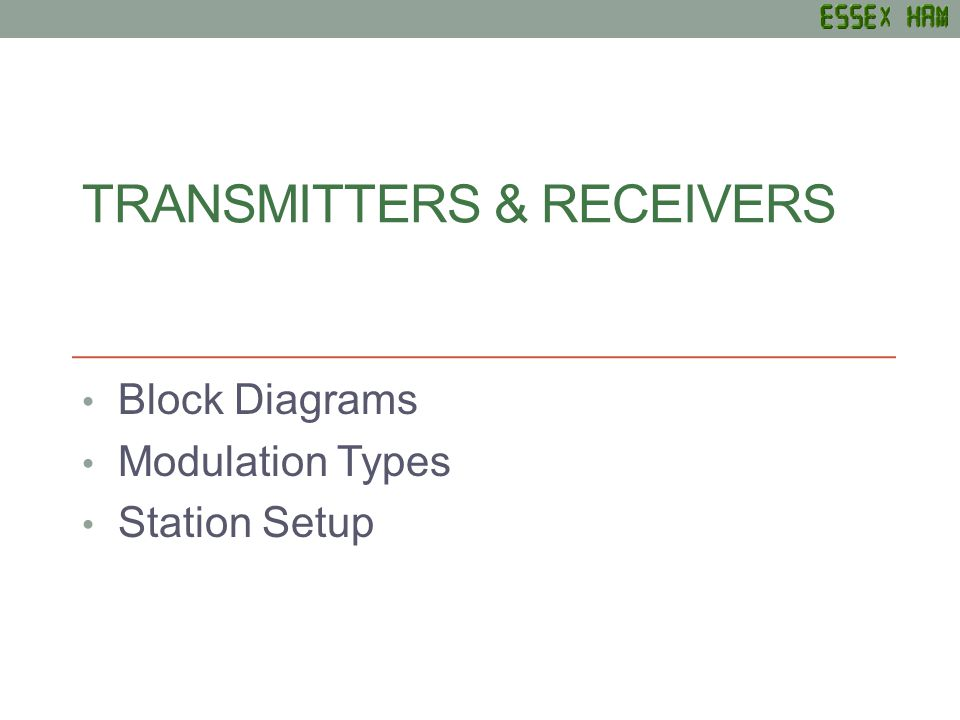Transmitters & RECEIVERs