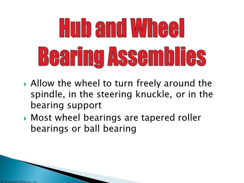 Hub and Wheel Bearing Assemblies