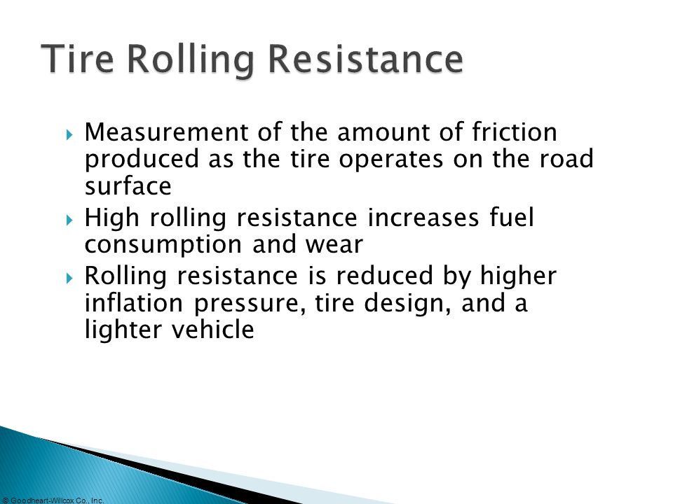 Tire Rolling Resistance