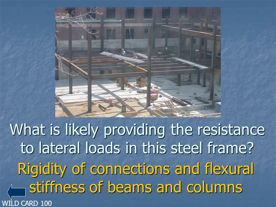 Rigidity of connections and flexural stiffness of beams and columns