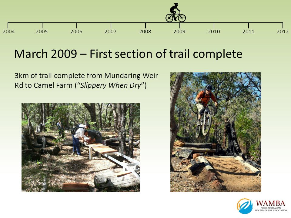 March 2009 – First section of trail complete