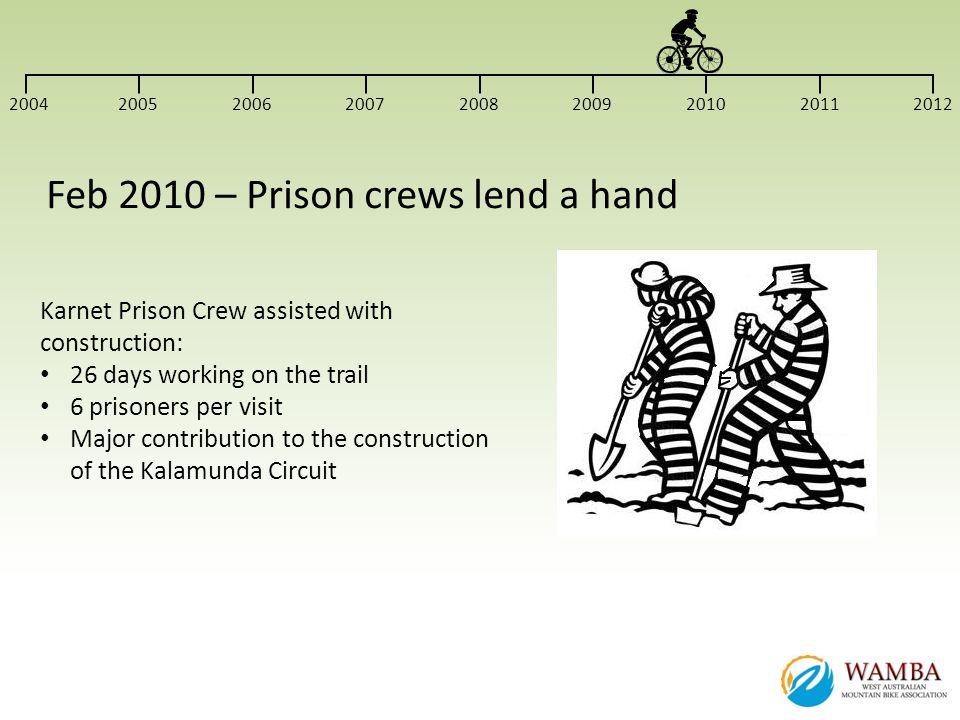 Feb 2010 – Prison crews lend a hand