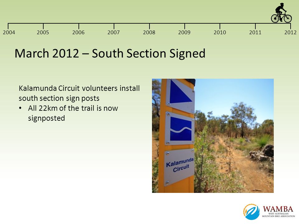 March 2012 – South Section Signed