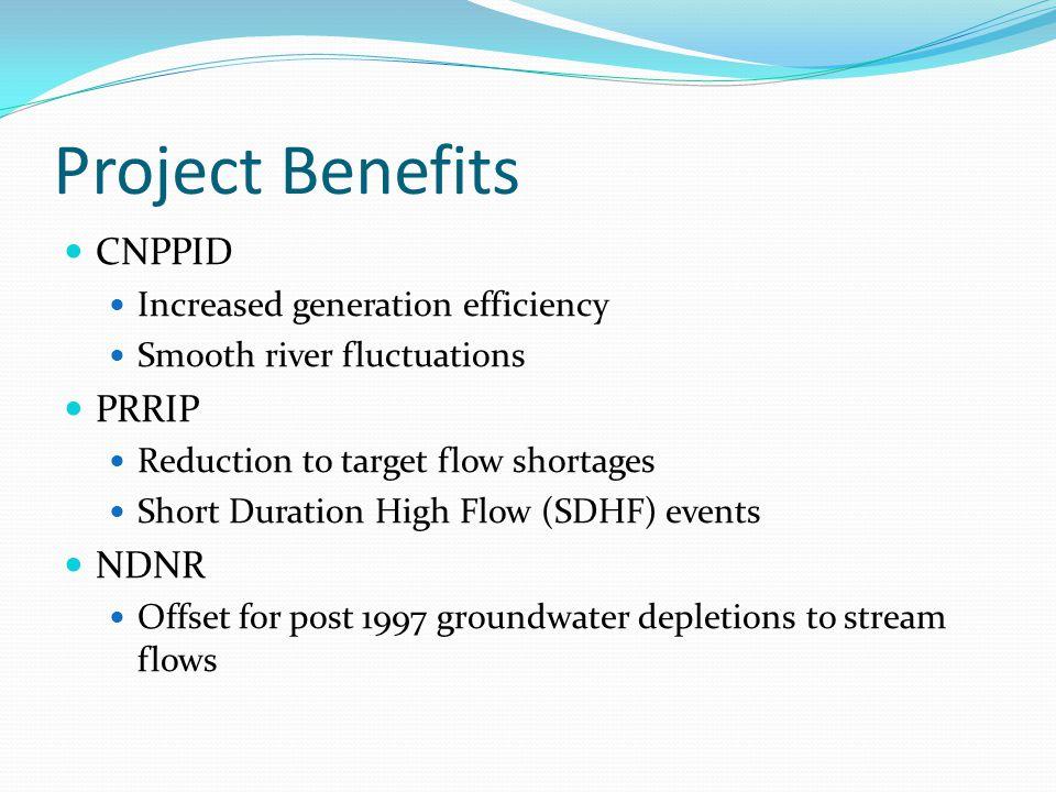 Project Benefits CNPPID PRRIP NDNR Increased generation efficiency