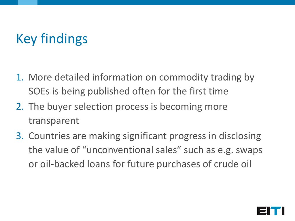 EITI and commodity trading transparency - ppt download