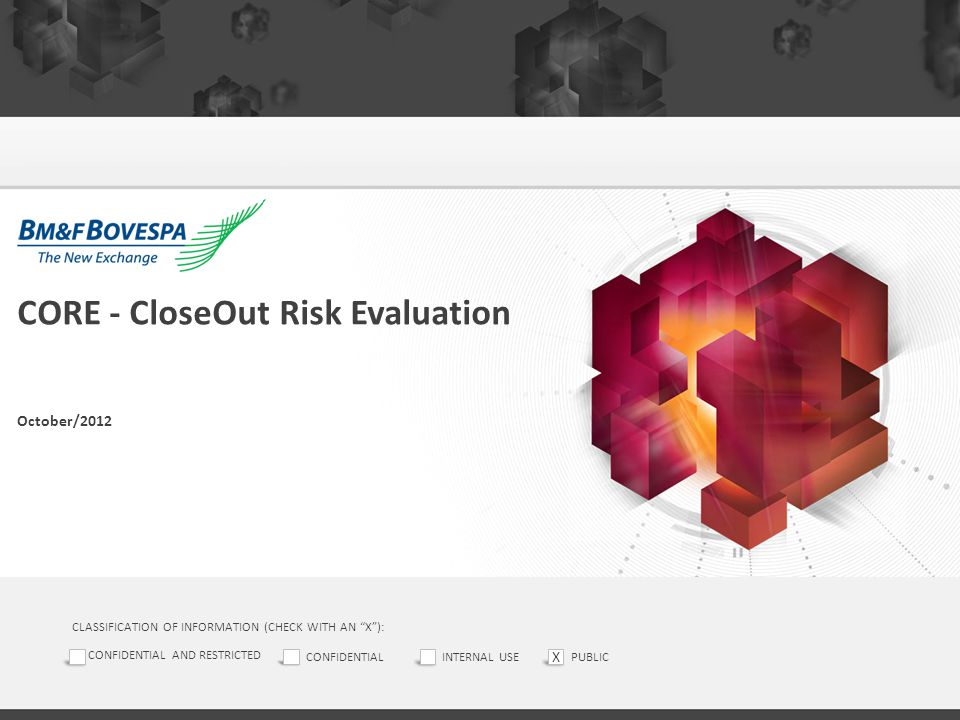 CORE - CloseOut Risk Evaluation