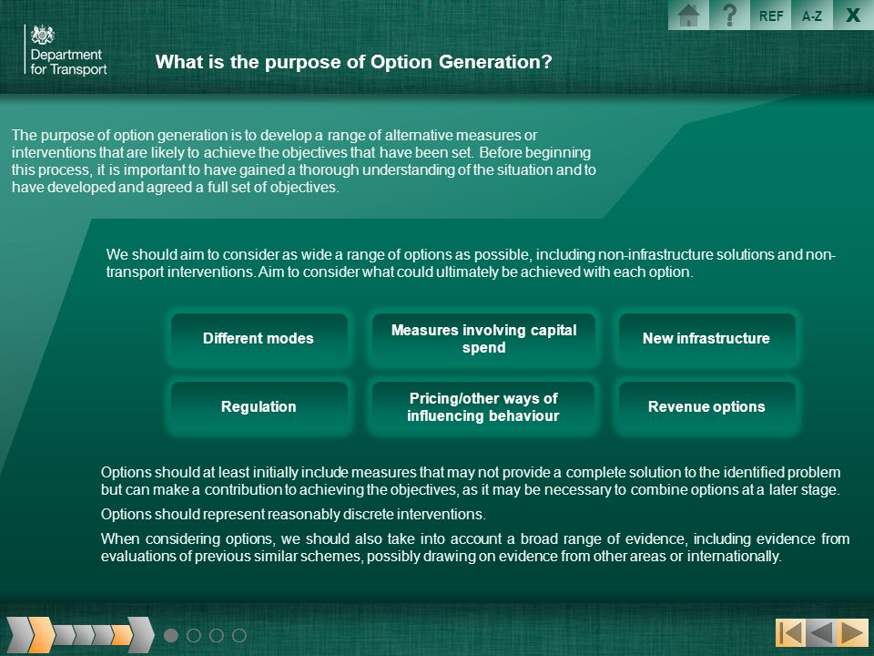 What is the purpose of Option Generation