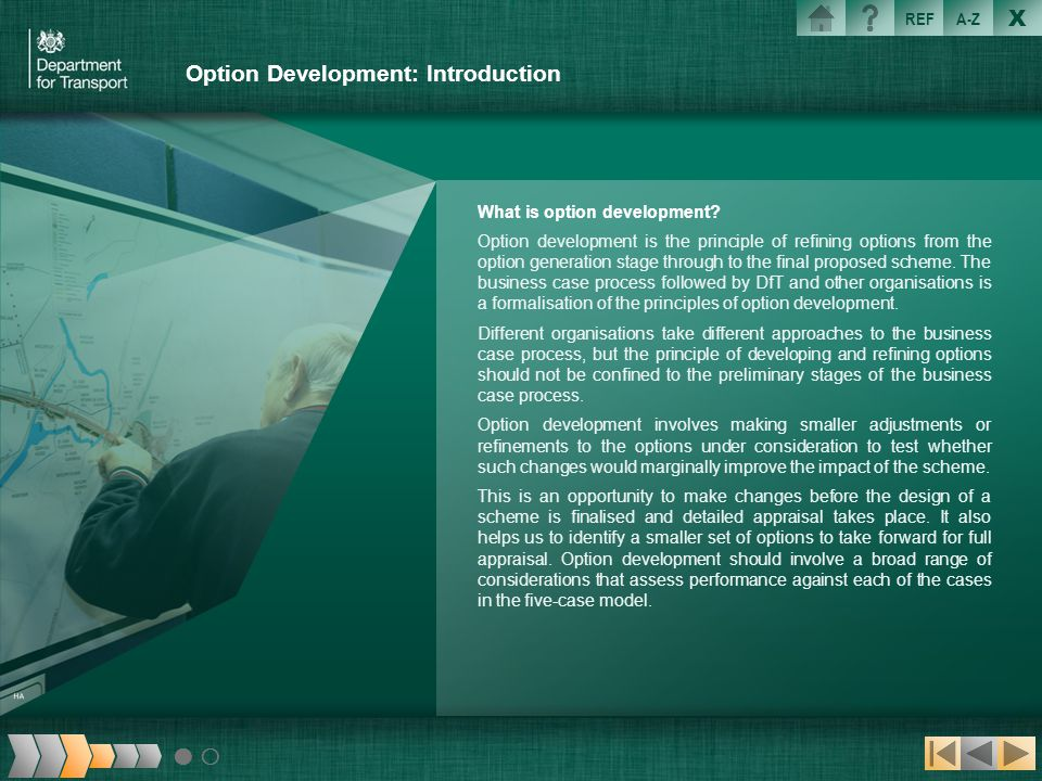 Option Development: Introduction