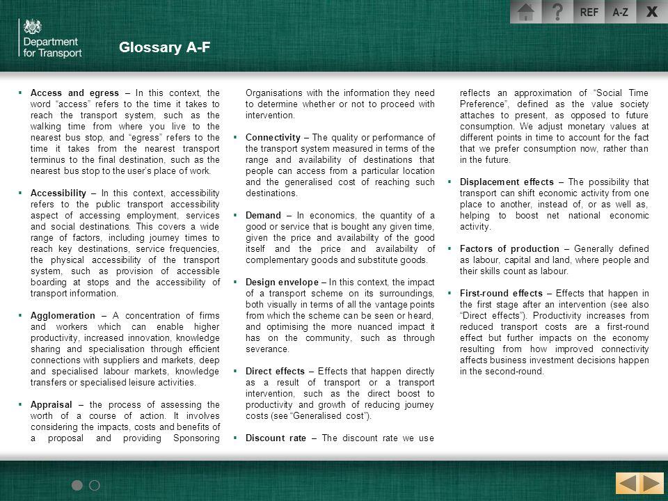 Glossary A-F