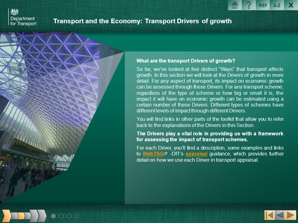 Transport and the Economy: Transport Drivers of growth