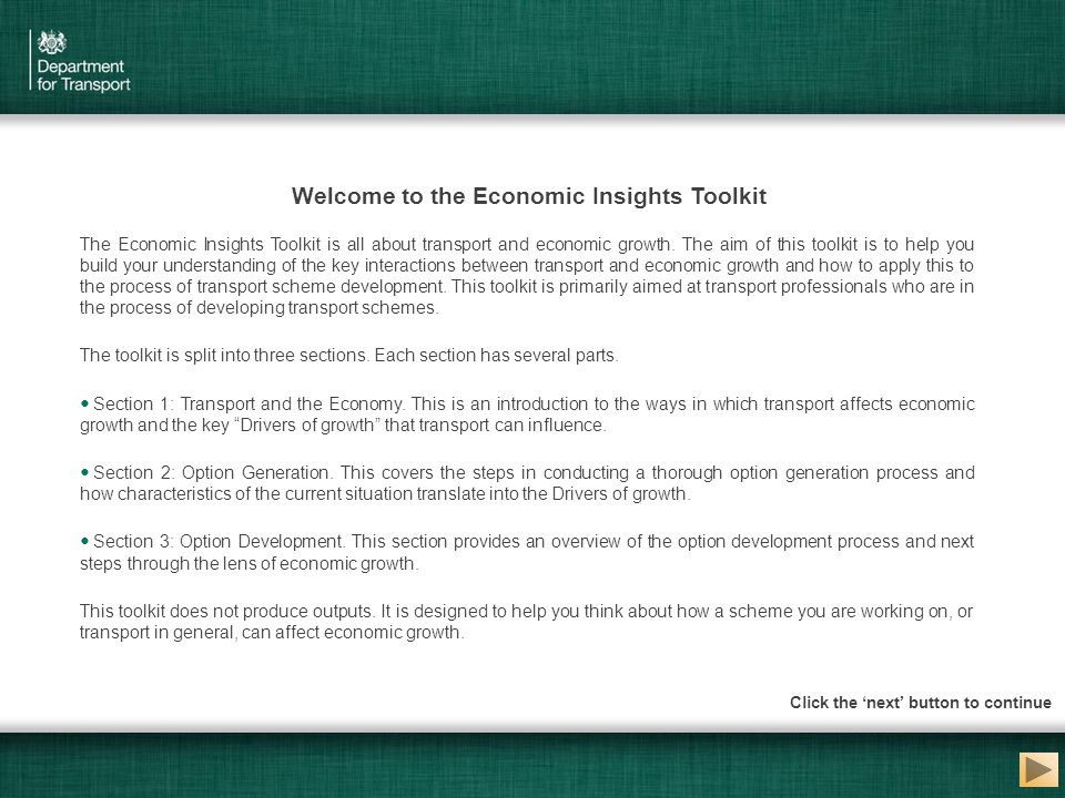Welcome to the Economic Insights Toolkit