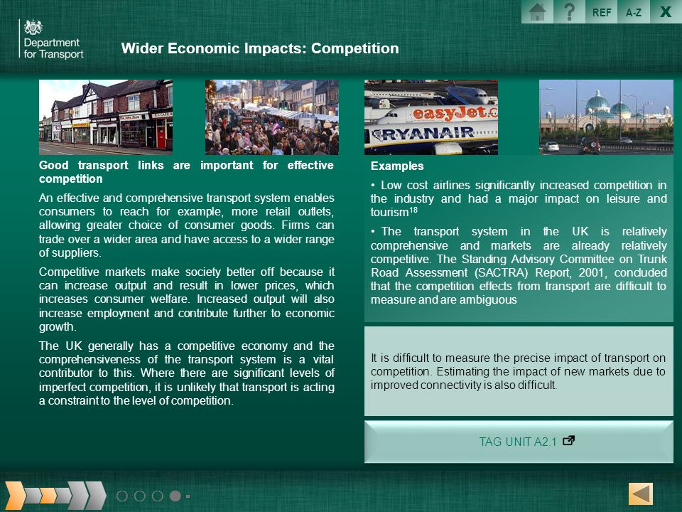 Wider Economic Impacts: Competition