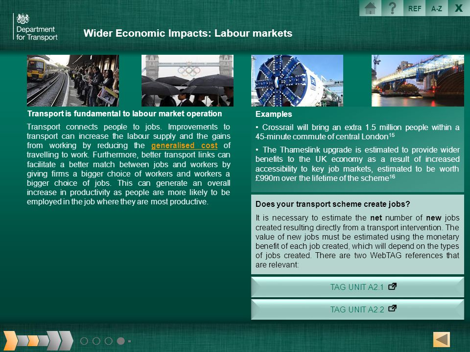 Wider Economic Impacts: Labour markets