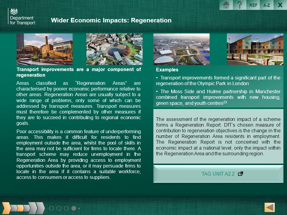 Wider Economic Impacts: Regeneration