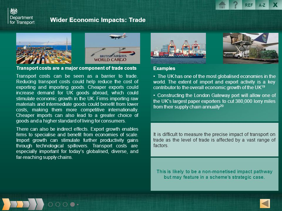 Wider Economic Impacts: Trade