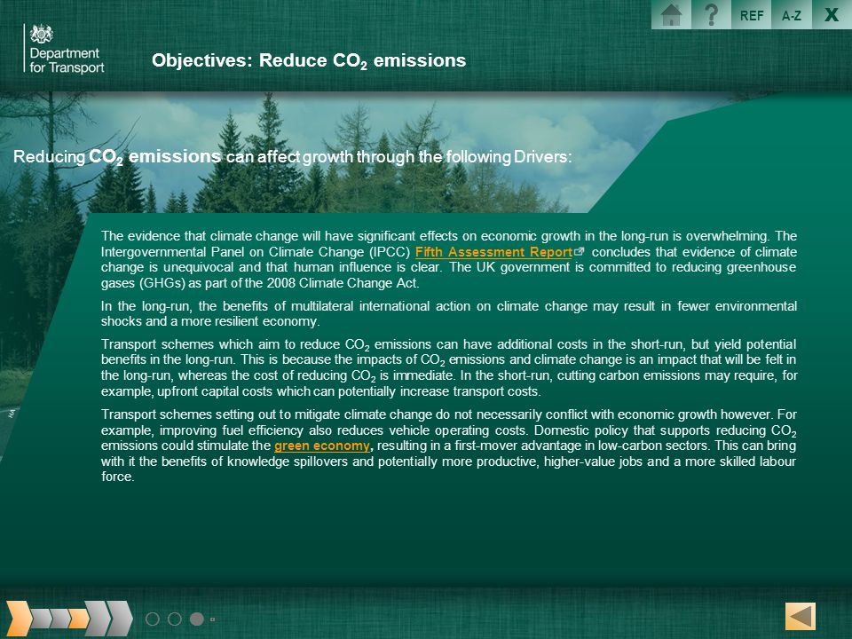 Objectives: Reduce CO2 emissions
