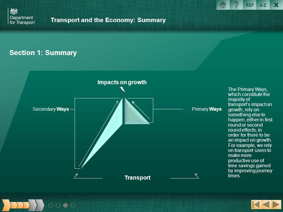 Transport and the Economy: Summary