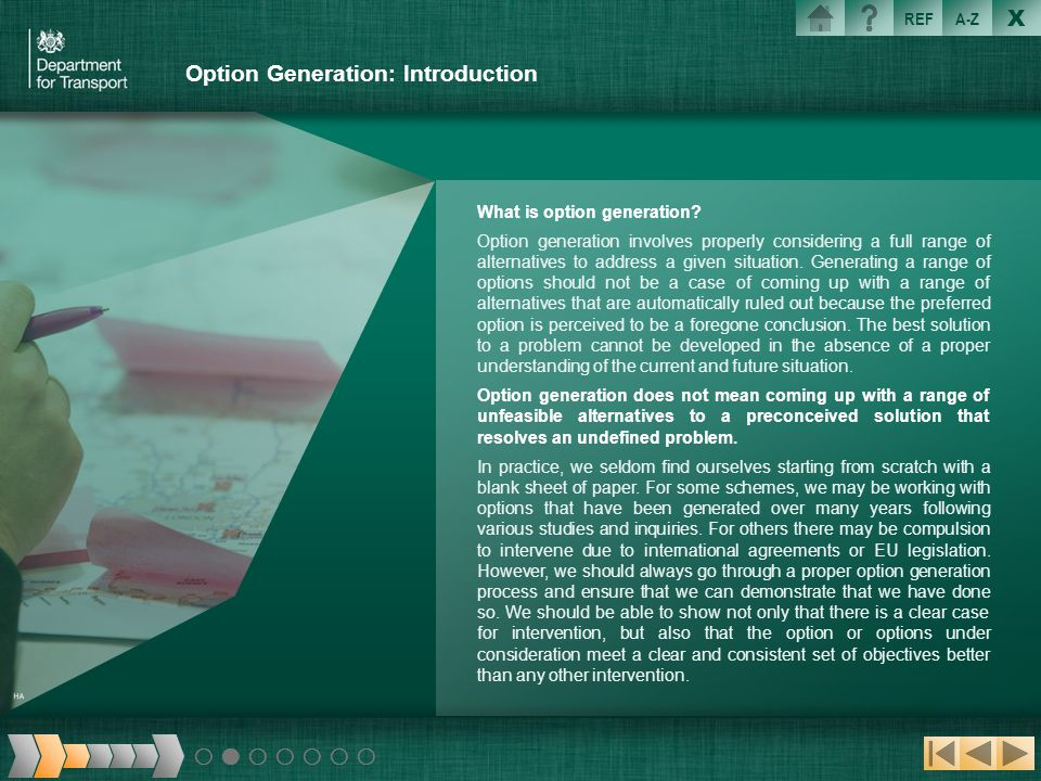 Option Generation: Introduction