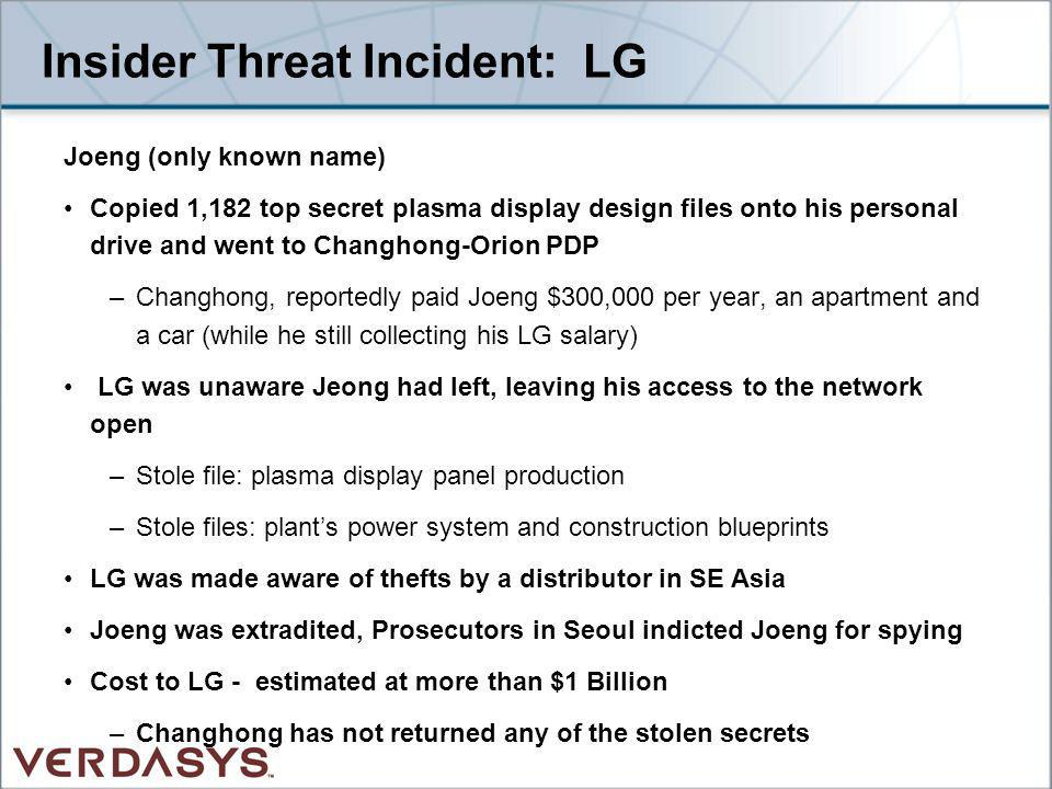 Insider Threat Incident: LG