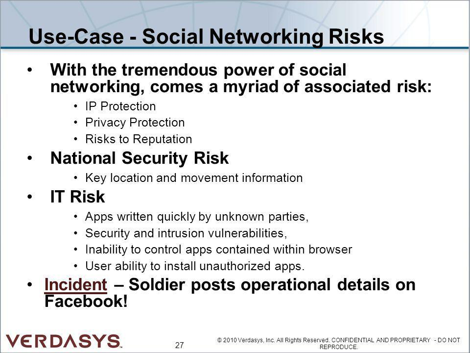 Use-Case - Social Networking Risks