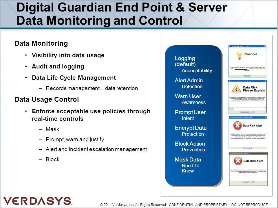 Digital Guardian End Point & Server Data Monitoring and Control