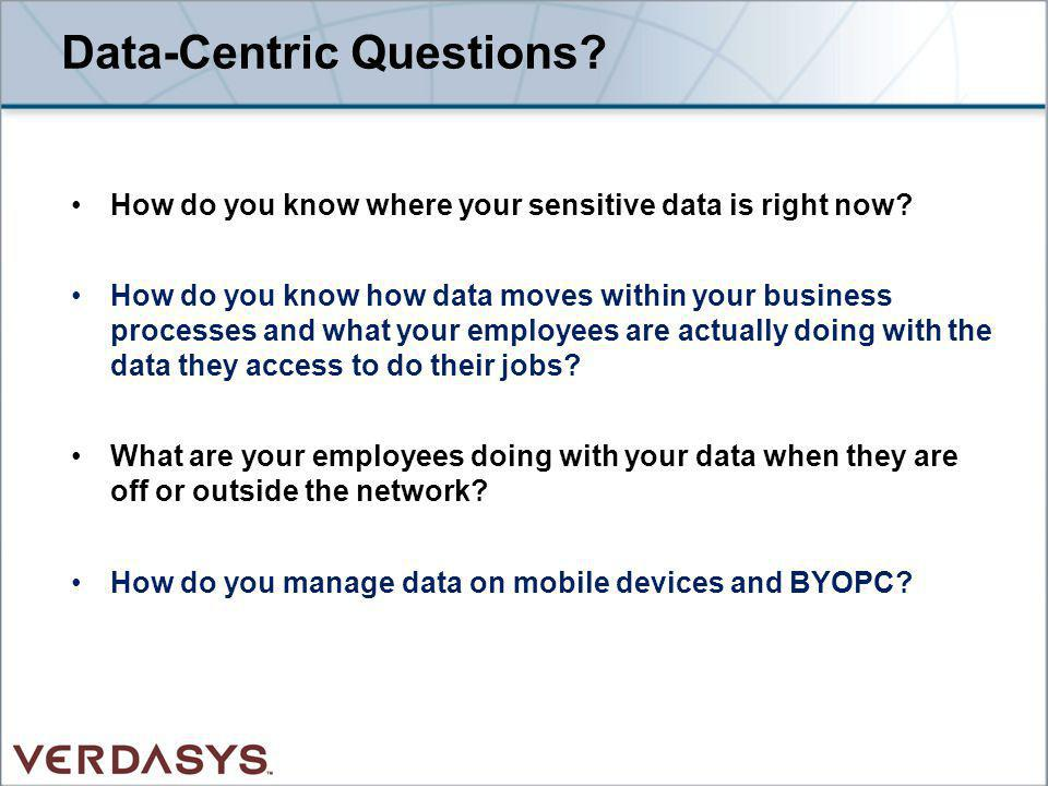 Data-Centric Questions